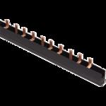 Шина соедин.PIN 3п 100А. 37мод/27мм . Гребенка 3-ф (56) Шина соединительная PIN 3Р  (дл. 1м) ИЭК(4)