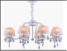 """Люстра """"ретро абажур 8"""" .. светильник потолочный 0730/8XB WT+FGD E14 760*850"""
