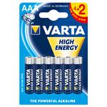 Батар. LR03 (ААА)  (AAA, Micro) алкалиновый VARTA HIGH ENERGY бл. 4+2 шт (1/10)