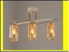 """Люстра """"рожки разн. 3"""" .. светильник потолочный светильник потолочный 7051/3C (6) WT+FG E27 600*210*280"""