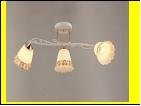 """Люстра """"рожки разн. 3"""" .. светильник потолочный 7071/3C (6) WT+FG E27 680*210*280"""