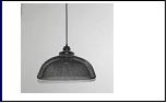 """Люстра """"рожки модерн 1"""" .. светильник потолочный 5145/1HN BK E27 360*270"""