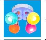 """Люстра """"фигурн.с плафон 4"""" LED-RGB светильник потолочный 41035/4CR MIX RDBLLED Потолочные споты ЭкономСвет"""