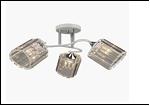 """Люстра """"рожки серебро 3"""" .. светильник потолочный 70695/3 (6) WT+CR E27 520*250"""