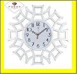 """4945-103 (5) Часы настенные круг ажурный d=48,5см, корпус белый с золотом """"Классика"""""""