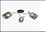 """Люстра """"рожки серебро 3"""" .. светильник потолочный 0116/3N (6) CR+BK E27 640*230"""