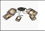 """Люстра """"рожки серебро 5"""" .. светильник потолочный 0116/5N (4) CR+BK E27 640*230"""