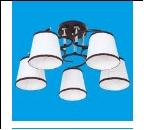 """Люстра """"рожки классик 5"""" .. светильник потолочный 50713/5BR+CR WT"""
