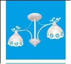 """Люстра """"рожки ретро 2"""" .. светильник потолочный 50801/2WG WG+CL"""