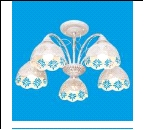 """Люстра """"рожки ретро 5"""" .. светильник потолочный 50801/5WG WG+CL"""