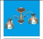 """Люстра """"рожки ретро 2"""" .. светильник потолочный 50808/2AB AB+CL"""