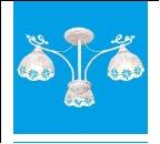 """Люстра """"рожки ретро 3"""" .. светильник потолочный 50811/3WG WG+CL"""