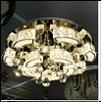 """Люстра """"космос 7"""" LED-RGB светильник потолочный CRYSTAL PALACE 66020-400 d 400mm  21W*2   Люстра потолочная LED панель, круглая,  L52 W52 H15"""