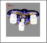 """Люстра """"рожки модерн 3"""" LED-Blu светильник потолочный 8369/3 (1) BK+GD Светильник бытовой потолочный со светодиодами и дистанционным пультом (220V 18W"""