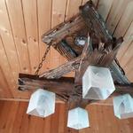 """Люстра """"рожки разн. 4"""" .. светильник потолочный ручной работы 2 квадрат"""