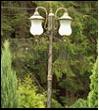 """Св.улич. столб 3.0м 2-рожк. античная бронза Светлон G1606-2 """"Верона"""" светильник 220V 2*Е27  2*60W antique"""