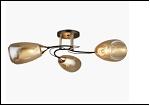 """Люстра """"рожки разн. 3"""" .. светильник потолочный 78703/3 (6) AB+BK E27 580*220"""