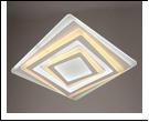 "Люстра ""LED 500х500мм LED-3000К/4000К/6000К светильник потолочный 5383/119WY (5) WT 500*500*50 LED 44/75W 3000/6500K  с ПДУ"