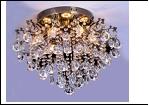 "Люстра ""хрусталь 6"" LED-3000К/4000К/6000К светильник потолочный 4775/6LE AB E14 490*465 LED  (без ПДУ)"