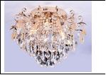 """Люстра """"хрусталь 6"""" LED-RGB светильник потолочный 4776/6LE FGD E14 500*435 LED  (без ПДУ)"""