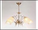 """Люстра """"рожки разн. 5"""" .. светильник потолочный 7062/5C (4) WT+FG E27 580*540"""