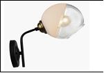 Бра 1-рожк. светильник 70627/1W (20) BK+AB E27 250*140*250 бра