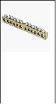 Шина распр. 8х12мм  125. 12/1  без изолятора  125 Ампер (12 отверстий/крепеж по центру) латунь EKF