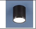 Спот 1-рожк. LED светильник Точечный свет - DLR024 6W 4200K черный матовый