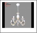 """Люстра """"рожки ретро 5"""" .. светильник потолочный 90709GH/5B WT+GD (2) Светильник бытовой потолочный (220V 15W E14)"""