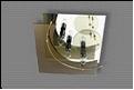"""Люстра """"модерн 3"""" .. светильник потолочный Светильник """"Квадра"""" желтое-бронза"""