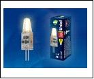 ЛСД G4 JCD   1,5Вт 3000K  12В Т25 (Капсульная) UNIEL . UNIEL LED-JC-12//G4/CL SIZ05TR   с силиконовым покрытием Цвет свечения  Упаковка картон, шк 469