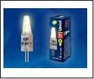 ЛСД G4 JCD   2,0Вт 3000K 220В Т25 (Капсульная) UNIEL . UNIEL LED-JC-220///G4/CL SIZ05TR   с силиконовым покрытием Цвет свечения  Упаковка картон, шк 4