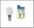 ЛСД Е14 Т25   3,0Вт 3000K 220В . UNIEL светильник LED-Y27-//FR/Z   для холодильников TM Volpe Матовая колба Материал корпуса пластик Цвет свечения  Уп
