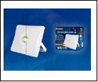 С/д прожектор Крепеж настен. белый LED  10,0Вт 6000K 220В UNIEL прожектор ULF-F31-/DW SENSOR IP65 100-265В WHITE  с датчиком движения. Дневной белый.