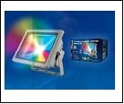 С/д прожектор Крепеж настен. серый LED  10,0Вт RGB 220В UNIEL прожектор ULF-S01-/RGB/RC IP65 110-240В  с пультом ДУ. Мультиколор. Корпус серый. Упаков