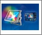 С/д прожектор Крепеж настен. серый LED  20Вт RGB 220В UNIEL прожектор ULF-S01-/RGB/RC IP65 110-240В  с пультом ДУ. Мультиколор. Корпус серый. Упаковка