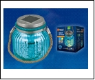 Св.улич. солн. голубой UNIEL . светильник USL-M-210/GN120 BLUE JAR Садовый светильник на солнечной батарее Теплый белый свет 1*АА Ni-Mh аккумулятор в/
