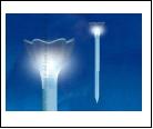 Св.улич. солн. молочно-прозрачный UNIEL . светильник USL-C-418/PT305 Cадовый светильник на солнечной батарее Blue crocus Серия Classic Упаковка-пленка