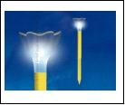 Св.улич. солн. желт. UNIEL . светильник USL-C-419/PT305 Cадовый светильник на солнечной батарее Yellow crocus Серия Classic Упаковка-пленка, шк 469048