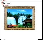 """600DB-73 (5) Картина в багете с подсветкой, """"Водопад у мельницы"""" (43х56см)"""