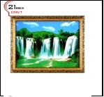 """600DB-78 (5) Картина в багете с подсветкой, """"Водопады"""" (43х56см)"""