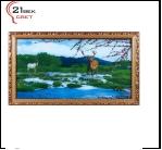 "700DB-70 (5) Картина в багете с подсветкой, ""Олень на водопое"" (39х69см)"