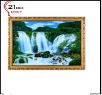 """860DB-42 (3) Картина в багете с подсветкой, """"Водопад в камни"""" (55х80см)"""