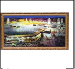 "700SB-708 (5) Картина в багете с подсветкой, ""Мечеть Аль-Харам"" (39х69см)"