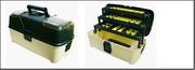 """Ящик универсальный Е-45 с 3 кантилеверами и 2 органайзерами на крышке 18"""" 465х230х250 мм"""