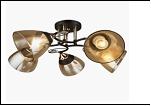 """Люстра """"рожки золото 5"""" .. светильник потолочный 0671/5N (4) BK+FGD E27 540*240"""