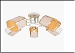 """Люстра """"рожки золото 5"""" .. светильник потолочный 0673/5N (4) WT+FGD E27 560*230"""