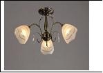 """Люстра """"рожки ретро 3"""" .. светильник потолочный 3083/3N (6) AB E27 635*300"""