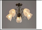 """Люстра """"рожки классик 5"""" .. светильник потолочный 3083/5N (4) AB E27 635*300"""