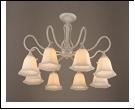"""Люстра """"рожки разн. 8"""" .. светильник потолочный 0348/8N (2) WG E27 770*450"""